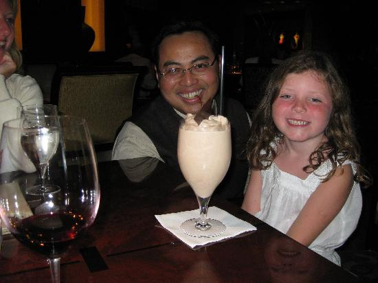 The Umstead Hotel and Spa: Alexandra and Budi with specially prepared choc milkshake