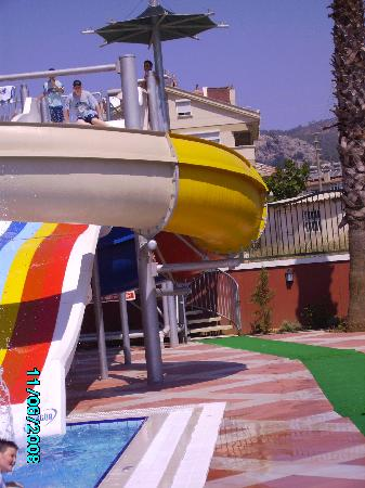 One of two slides at Club Aida, Turkey