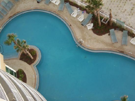 Aqua: The pool from our condo