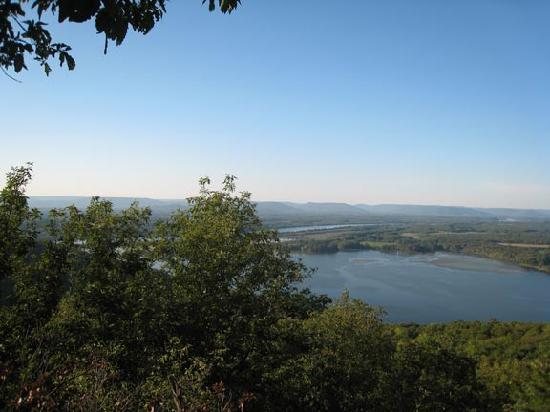 The Lodge at Gorham's Bluff: View from outlook in Lodge