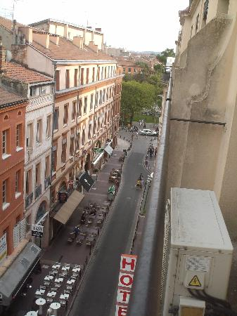 Hotel de France: View from our balcony
