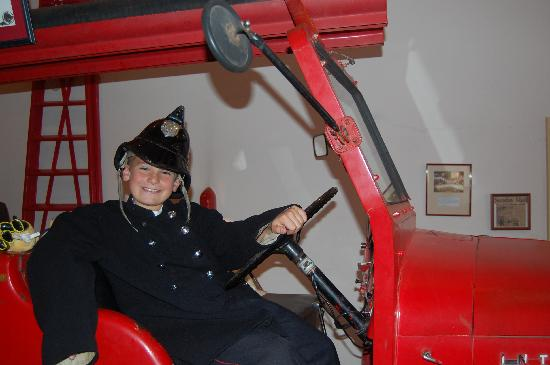 Fire Station Inn: even a fireman outfit!!