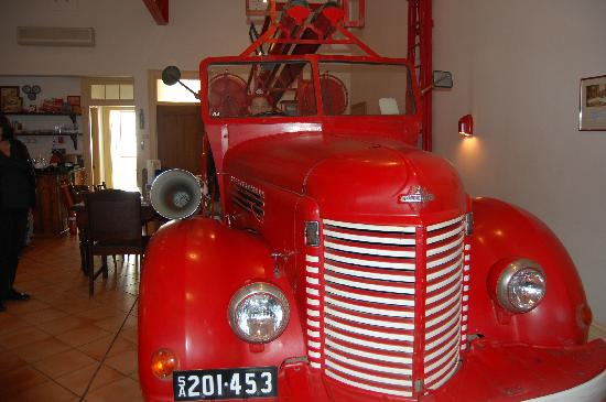 Fire Station Inn: the fire engine