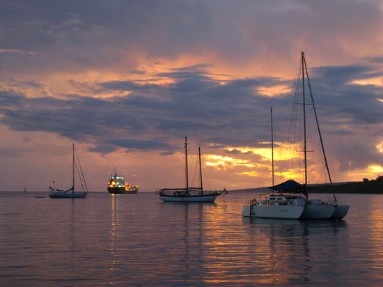 Port Vila, Vanuatu - Sunset at the harbour in the capital
