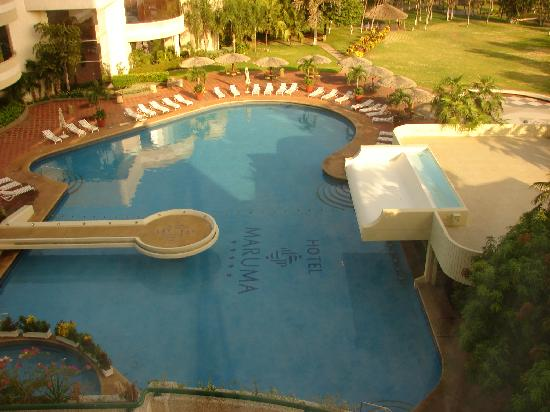 Crowne Plaza Maruma Hotel & Casino: La piscina vista desde la habitación