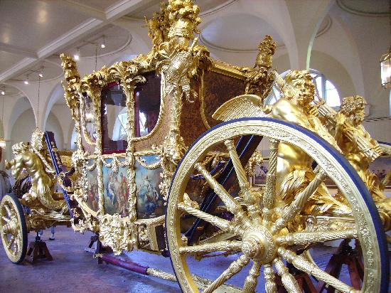 England, UK: London, Royal Mews, Gold State Coach