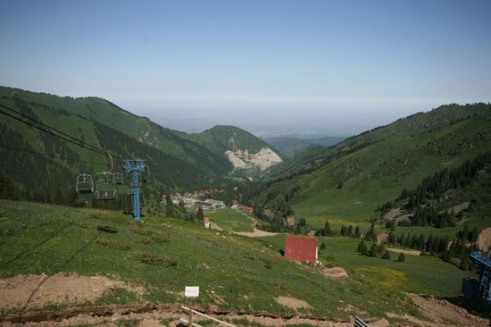 Almaty, Kazachstan: Chimbulk in Summer - About half way up the slope