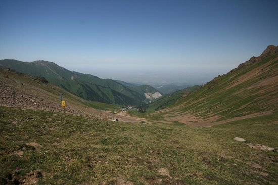 Almaty, Kazakstan: Chimbulak in Summer - From the top of the slope