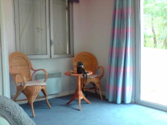 Le Belvedere : une partie de notre chambre