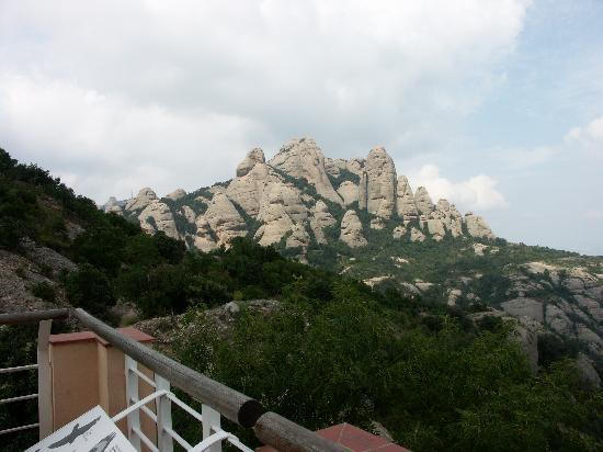 Sant Joan Funicular Railway: Vista dall'arrivo della funivia