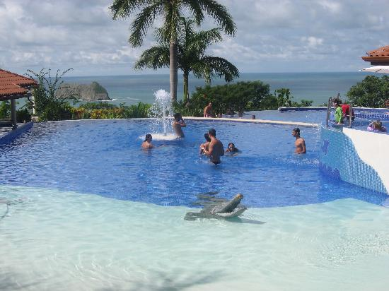 Parador Resort and Spa : CRica - HotelParador - the upper infinity pool, with a Croc ...