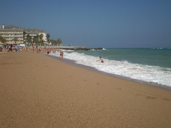 Santa Susanna beach(across the road from the Hotel Mercury