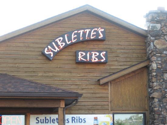 Sublette's ribs