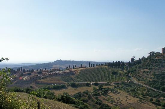 Monticchiello, Italy: Sullo sfondo Pienza