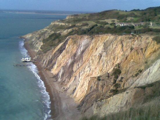 The Golf House: View of Totland Bay from the Needles Battery
