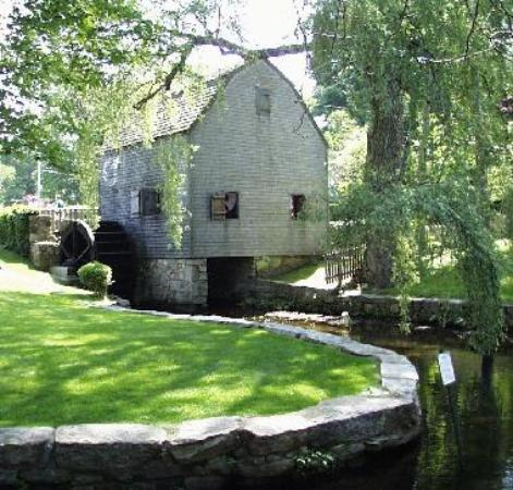 Dexter Grist Mill occupies a prominent spot in the heart of historic Sandwich.