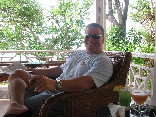 Sandals Royal Plantation: A big smile after Iolla brought me a
