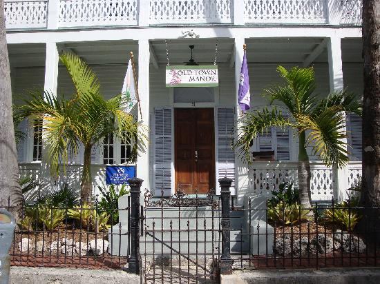 front porch picture of old town manor key west. Black Bedroom Furniture Sets. Home Design Ideas