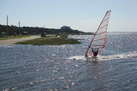 Frisco Woods Campground: Wind Surfing from Beach