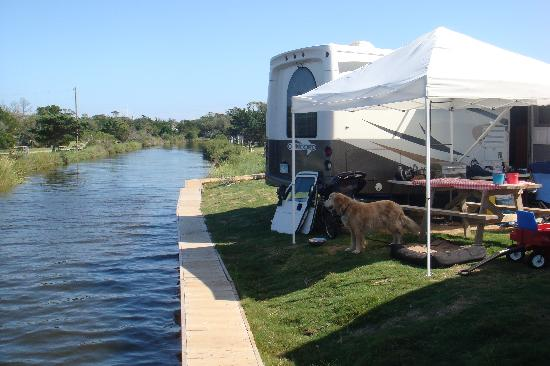 Frisco, Caroline du Nord : Campsite on the Sound