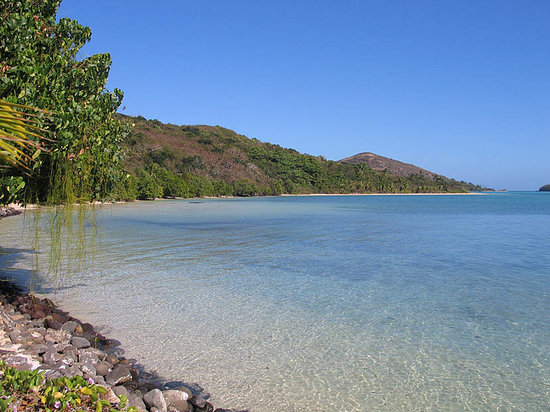Pulau Yaqeta, Fiji: looks inviting but still waist deep