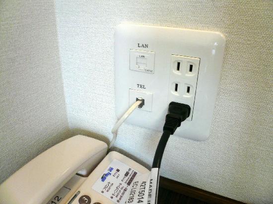Dormy Inn Matsumoto: Phone and LAN / 電話 及び LANソケット