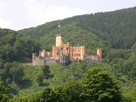 Renania-Palatinato, Germania: Schloss Stolzenfels close to Koblenz