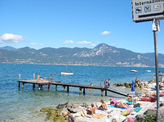 view of lake beach opposite hotel Internazionale