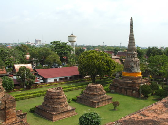 Ayutthaya, Thailandia: vista dall'alto
