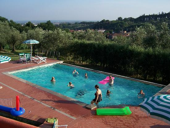 Villa Stabbia: View of the Pool from the Office