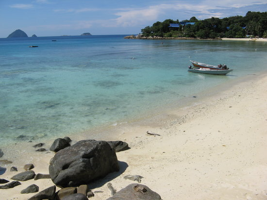 Pulau Perhentian Kecil, Malesia: the beach from the resort restaurant