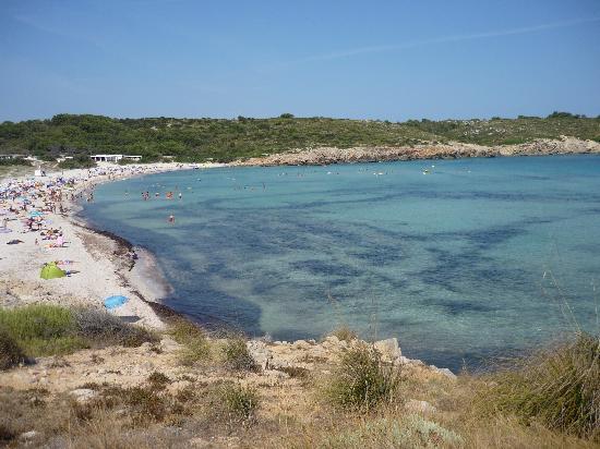 Son Parc, Spain: la spiaggia vista dall'hotel