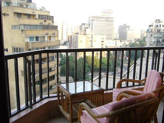 InterContinental Cairo Semiramis: Terraza vistas laterales al Nilo
