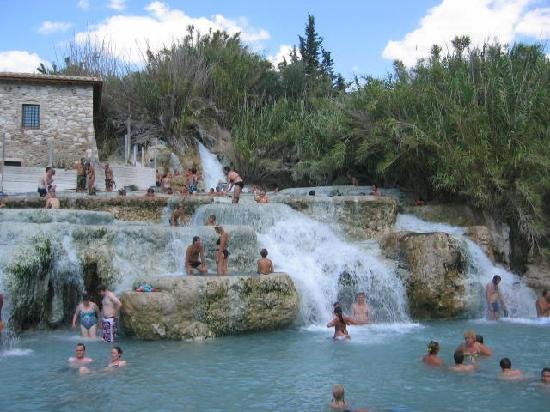 Talamone, Italy: hot springs not too far away, but windy roads, probably about an hour plus to get there