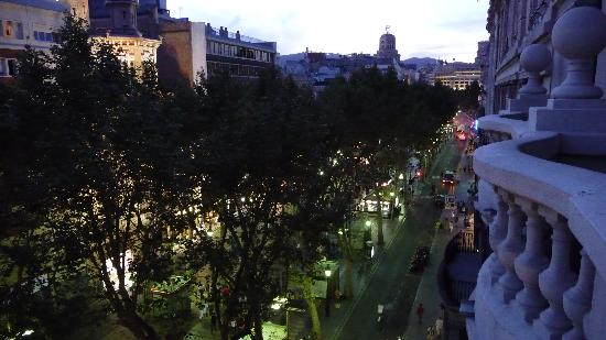 Hotel Montecarlo Barcelona: View from Balcony