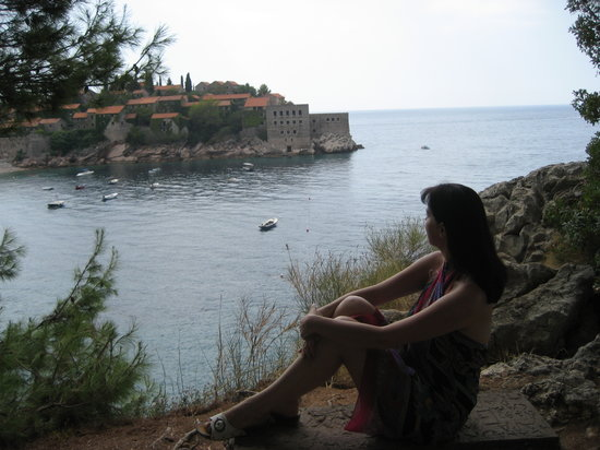on the way to Sveti Stefan