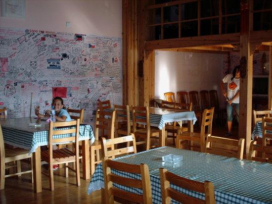 Teddy Bear Hotel : common room/restaurant - sunny & cheerful and roomy!