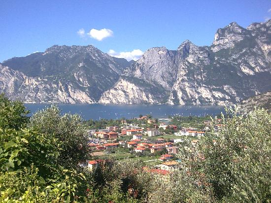 Nago, Italy: view on the walk down to the lake