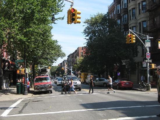 Street scene near AOC Bistro