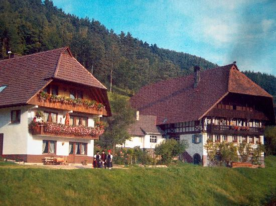 Gutach im Breisgau, Germany: main house on right guest house on left