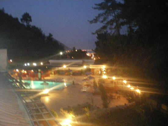 Panorama Park Hotel: the pool at nightime