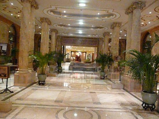 Athenee Palace Hilton Bucharest: fancy lobby hallway