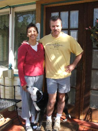 Gilded Pine Meadows Bed and Breakfast: Eric and Caprissa - The owners of Gilded Pine Meadows