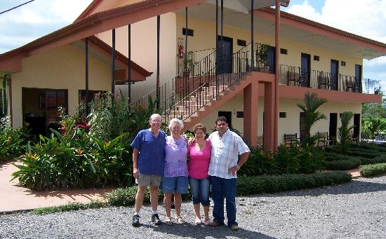 Hotel Vista del Cerro : us and the owners, Melania and Gilbert