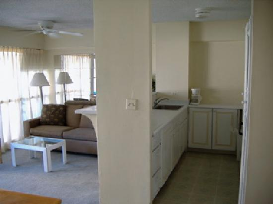 Big Surf: the view of kitchen one bedroom
