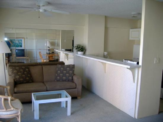 Big Surf: another view of kitchen one bedroom