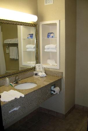 La Quinta Inn & Suites Plainfield: granite counter top bath