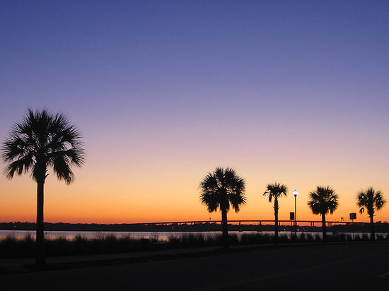 Charleston, Carolina Selatan: Sunset by the Water, Charlesto, SC