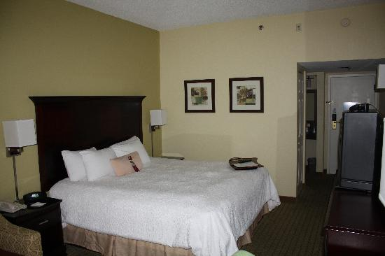 Hampton Inn Central Naples: Kind Size Bed - Zimmer