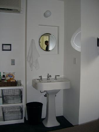 Ace Hotel Portland: The sink-located in the room next to the bed
